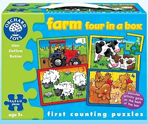 Farm Four In A Box - First Counting Puzzles by Orchard Toys