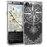 kwmobile BlackBerry KEYone (Key1) Hülle - Handyhülle für BlackBerry KEYone (Key1) - Handy Case in Weiß Transparent