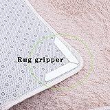 Lanlan 8 Stück Anti Curling und rutschfeste Teppich Greifer Teppich Band 4 Streifen + 4 U Form Set