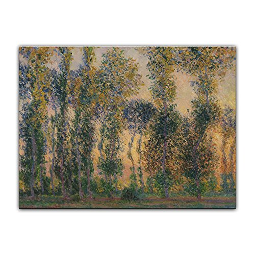 Bild ohne Rahmen - Claude Monet Pappeln bei Giverny, Sonnenaufgang 60x40cm ca. A2 - Kunstdruck Poster Alte Meister -