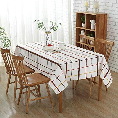 starnearby im europäischen Stil Baumwolle Gitter Tischdecke Tisch Tuch Cover Home Office Schreibtisch Dekoration, 55 x 55 inch