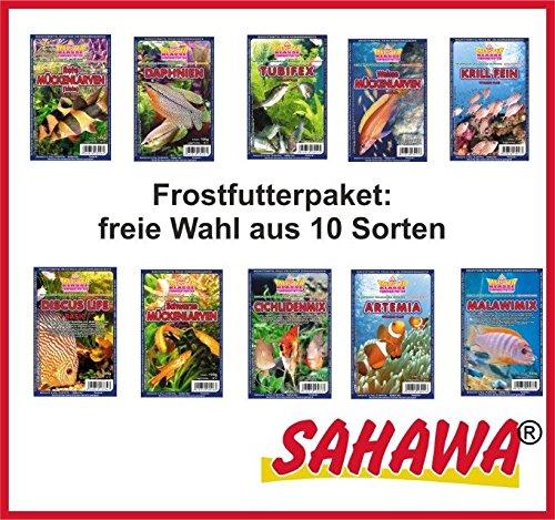SAHAWA® Frostfutterpaket , 15 Blister á 100g, Zierfischfutter, Frostfutter, Fische, Barsche, Discus, Guppys, Goldfische (15 Blister 1,5 kg), Frostfutter Aquarium, Aquaristik, Frostfutter für Fische