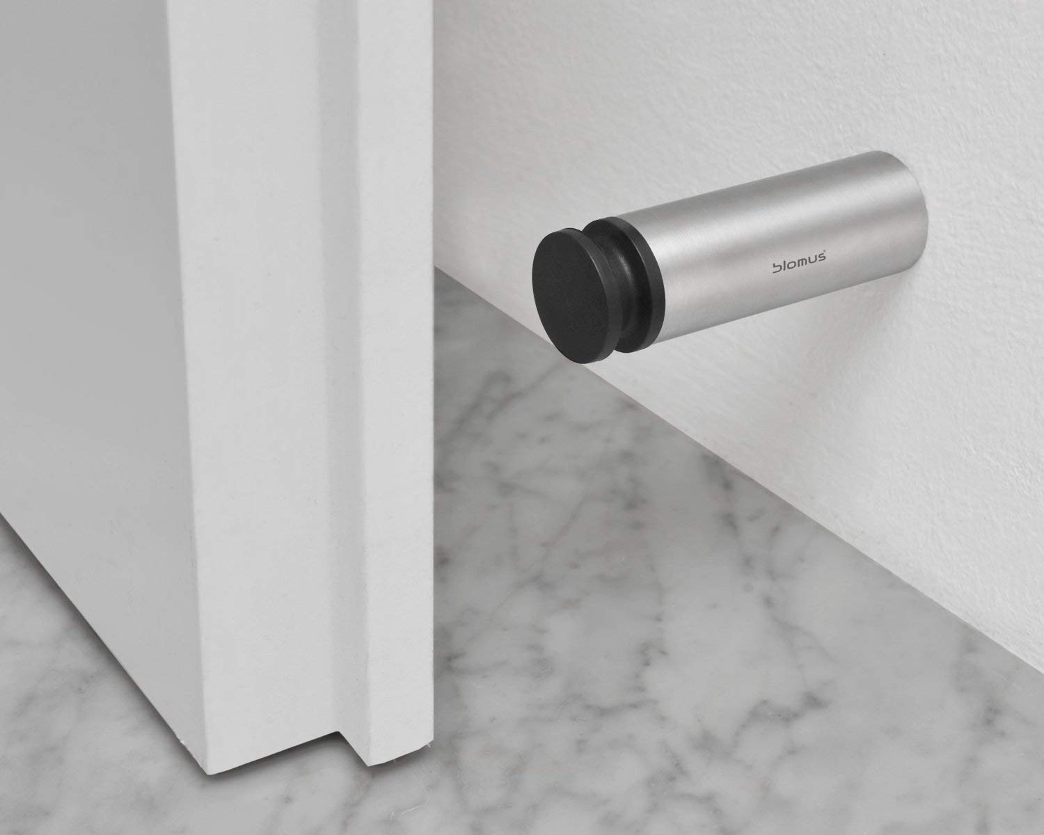 Wall Mounted Door Stop.Blomus 8 Cm Stainless Steel Plastic Entra Wall Mounted Door Stop