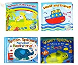 Baby Bath Books Plastic Coated Fun Educational Learning Toys for Toddlers & Kids (Set of all 4 Books) - First Steps - amazon.co.uk