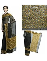 Aari Work Cotton Saree