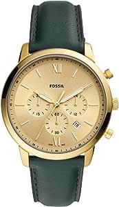 Fossil Hommes Analogique Quartz Montre avec Bracelet en Cuir véritable FS5580