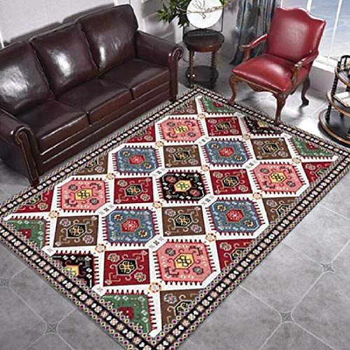 Alfombra marroquí Iweyrhs, tapete de decoración para sala de estar, dormitorio, estilo persa clásico...