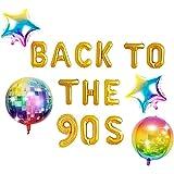 JeVenis 5 PCS Back to the 90s balloon balloon 90s balloon 90s decorazioni per feste anni '90 rifornimenti per feste anni '90