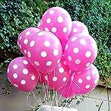 Balloon Junction PINK Polka Dot Balloons...