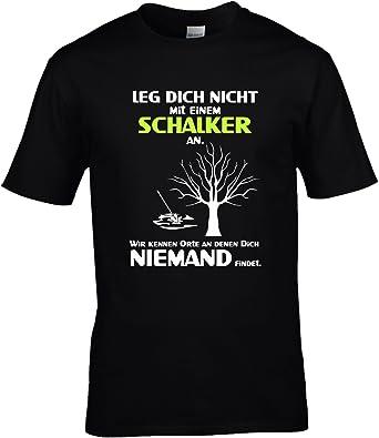 Fun Shirt Herren Leg Dich Nicht Mit Einem Schalker An Sprüche Schalke Leg  Dich Niemals Mit: Amazon.de: Bekleidung