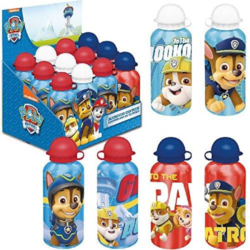 Kids Euroswan Cantimplora 500 ml, Estampado Paw Patrol, Aluminio, Multicolor, 15x10x5 cm