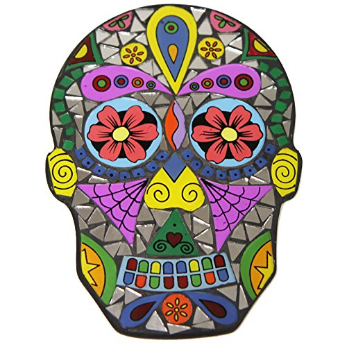 Just Contempo Day of the Dead Mosaic Skull Wall Art