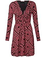 KRISP® Robe de Soirée pour Femme Imprimé Graphique Col V