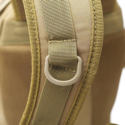 dushow militare zaino/zaino da campeggio trekking sport Ourdoor bagagli per arrampicata viaggio borsa a tracolla trekking, Uomo, Black, Taglia unica Khaki