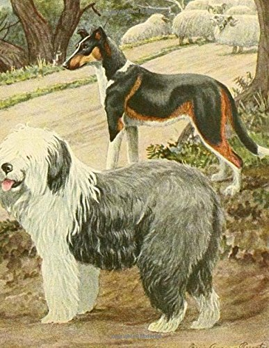 A Trio of Dogs At Play Notebook 8.5 x 11 150 lined pages glossy softcover por Wild Pages Press