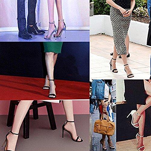Damenschuhe Open Toe Mehrfarbig Sandalen High-Heels Stiletto Riemchen Lack Grün