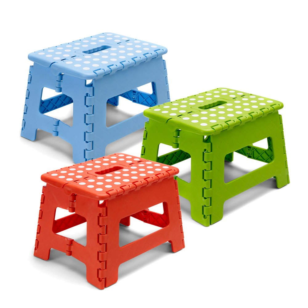 folding kitchen step stool reach those high places blue amazoncouk kitchen u0026 home - Kitchen Step Stool