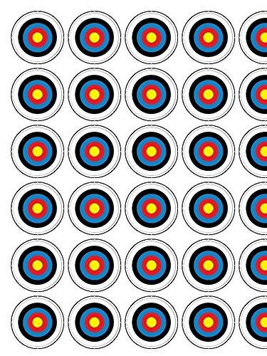archery-target-x-30-precut-13-edible-wafer-paper-cupcake-toppers