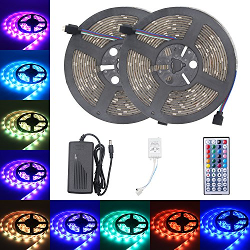 Amazon.de - RGB LED Strip Waterproof 10m 300leds, 12V DC, Remote Controller and Power Supply