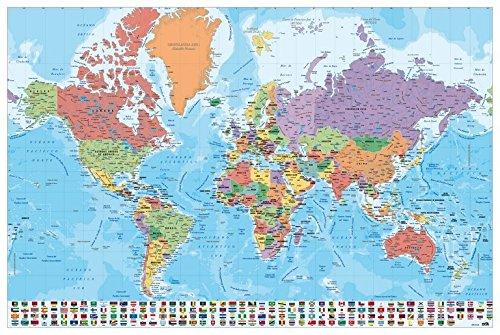 Grupo Erik Editores, S.L. - Póster mapa mundo-e grupo