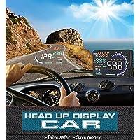 BW nuevo Universal 5,5Pulgadas Pantalla grande multicolor coche HUD Head Up Display con obd2interfaz plug & play coche HUD pantalla