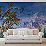 Drachen - Wallsticker Warehouse - Fototapete - Tapete - Fotomural - Mural Wandbild - (2372WM) - XL - 208cm x 146cm - VLIES (EasyInstall) - 2 Pieces