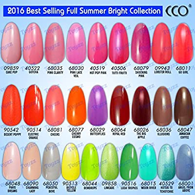 New Official Cco 2017 Summer Range Colourful Bright Colors Uv Led Nail Gel Polish Professional Soak Off Colours Top Coat Base Coat Cleanser Remover