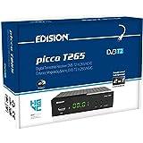 Decoder Edision PICCO T265, Full High Definition DVB-T2, H265 HEVC 10 Bit Bonus TV Ricevitore Digitale Terrestre, WiFi Suppor