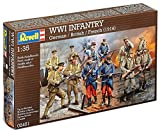 Revell 2451 - WWI Infantry Plastic Models - German - French - British - 12 x 1:35th Figures - World War 1