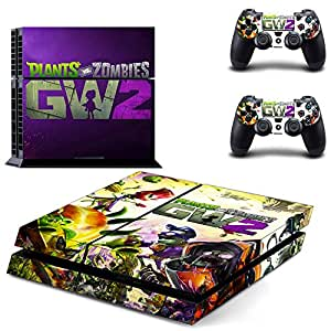 Hytech Plus Plants Vs Zombies Garden Warfare 2 Theme Skin Sticker Cover For Ps4 Console And