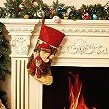 Moonmini 3D Calze Natalizie da Appendere Buste Regalo Natale Grandi Bustine Sacco Sacchetti Idee Regali Natale Decorazioni Addobbi Natalizi Originali (Babbo Natale)