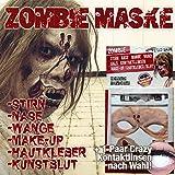 Latex-Maske-Halloween-Schminke-Zombie-mit-White-Out-Crazy-Kontaktlinse-Kunstblut-Topqualitt-zu-Halloween-und-Fasching