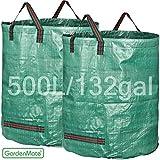 GardenMate® 2x Bolsas de basura de jardín PROFESSIONAL 500L polipropileno (PP)