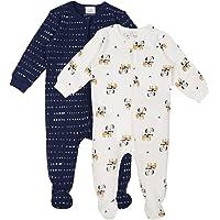 Bambino Set di Pigiama 2 Pezzi - Ragazzi Ragazze Pagliaccetti in Cotone Manica Lunga Tutine Jumpsuit per Neonato 0 Mesi