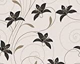 Excel Wallpapers, Style Floral Leafs, Paperback-Beige & CHOCOLATE-57 SQFT (Ideal for Bedroom)