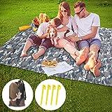 Idefair Stuoia di campeggio coperta da picnic all'aperto,Impermeabile Coperta da spiaggia Telo da campeggio ad asciugatura rapida Telo da spiaggia antisdrucciolo per festival di escursioni di viaggio