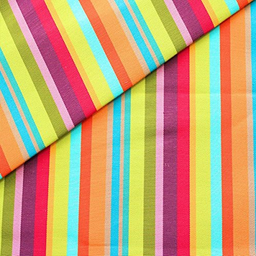 Unbekannt Liegestuhlstoff Outdoorstoff Meterware Breite 45 cm Streifen Mix Multicolor