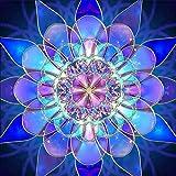 Kit per pittura con gli strass 5D - disegno di fiore di cristallo - per ricamo su tela con strass - decorazione da parete