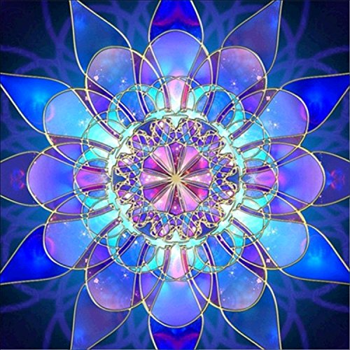 DIY 5D Diamond Painting Kit, Crystal Flower Embroidery Cross Stitch Arts Craft Canvas Wall Decor