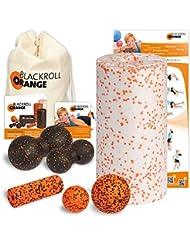 Blackroll Orange (Das Original) DIE Selbstmassagerolle - Komplett-Set MED mit miniBAG, Übungs-DVD, -Poster und -Booklet