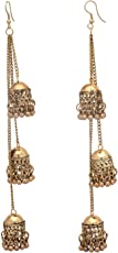 Designer Afghani Kashmiri Tribal Oxidized Dangle Long Earrings for Women and Girls