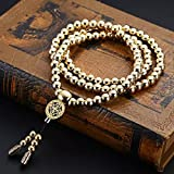 Daaseefee Self Defence 108 Buddha Beads Bracelet Necklace Chain Stainless Steel Outdoor Titanium Steel Metal Whip Self Defense Accessories