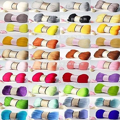 YSZ 40 Colour Wool Fibre Roving For Needle Felting Kits DIY Materials Hand Pick Up High Standard Wool 3g/0.1oz Per Color