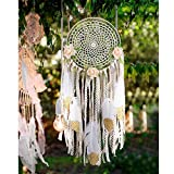 AerWo DIY Kit Dream Catcher mit Glitter Goldfeder Wandbehang Ornament Handwerk Geschenk für Baby Shower Boho Party Dekorationen