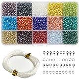 Ewparts Kit de perles de bricolage, L'atelier De Bijoux Fabrication de Bracelet Collier DIY Enfant Fille Anniversaire Perles (mélanger le placage)