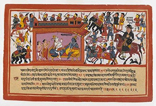 Das Museum Outlet-Brooklyn Museum-kalayavana Umgibt Mathura Seite von einer zerstreut bhagavatapurana Serie-Poster Print Online (61x 45,7cm) - Manet-serie