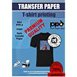 PPD Inkjet PREMIUM T Shirt Transfer Paper A4 for Dark Fabric x 20 Sheets PPD-4-20