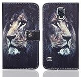 Samsung Galaxy S5 / S5 Neo Handy Tasche, FoneExpert® Wallet Case Flip Cover Hüllen Etui Ledertasche Lederhülle Premium Schutzhülle für Samsung Galaxy S5 / S5 Neo (Pattern 4)