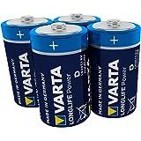 Varta Longlife Power D Mono LR20 Batterij (verpakking met 4 stuks) Alkaline Batterijideaal voor speelgoed zaklamp CD-speler e