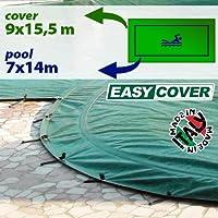 Telo di copertura invernale per piscina 7 x 14 mt - completo di borchie ed elastico
